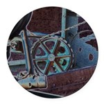 Solar Steampunk Round Car Magnet