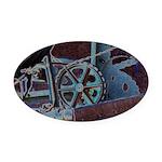 Solar Steampunk Oval Car Magnet