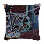 Solar Steampunk Woven Throw Pillow
