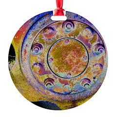 Rust Wheel Ornament