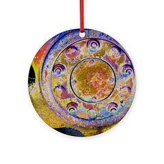 Rust Wheel Ornament (Round)