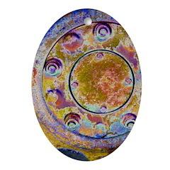 Rust Wheel Ornament (Oval)