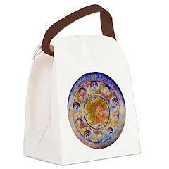 Rust Wheel Canvas Lunch Bag