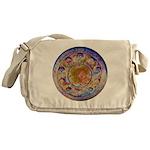 Rust Wheel Messenger Bag