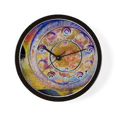 Rust Wheel Wall Clock