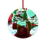 Red Green Machine Ornament (Round)