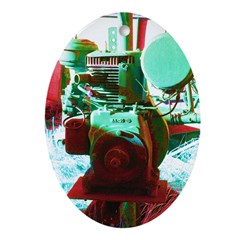Red Green Machine Ornament (Oval)
