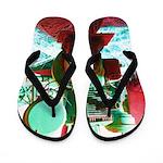 Red Green Machine Flip Flops