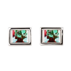 Red Green Machine Rectangular Cufflinks