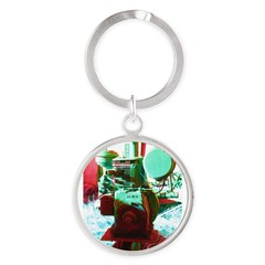 Red Green Machine Keychains