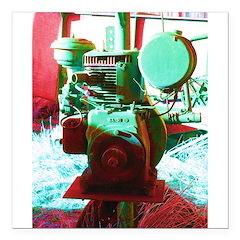 Red Green Machine Square Car Magnet 3