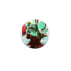 Red Green Machine Mini Button