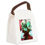 Red Green Machine Canvas Lunch Bag