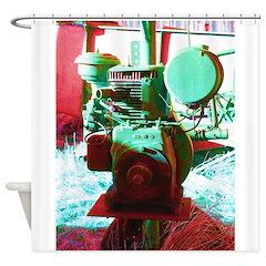 Red Green Machine Shower Curtain