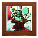 Red Green Machine Framed Tile