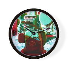 Red Green Machine Wall Clock