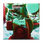 Red Green Machine Tile Coaster