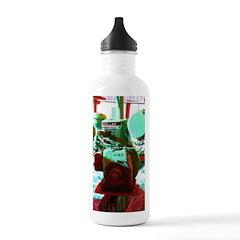 Red Green Machine Water Bottle