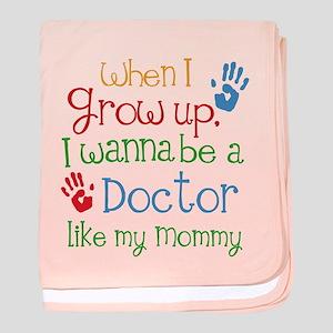 Doctor Like Mommy baby blanket