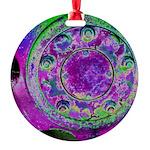 Purple Green Wheel Ornament