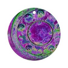 Purple Green Wheel Ornament (Round)
