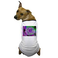 Purple Green Wheel Dog T-Shirt