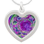 Purple Green Wheel Necklaces
