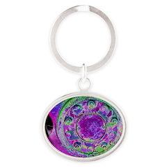 Purple Green Wheel Keychains