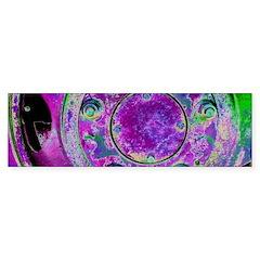 Purple Green Wheel Bumper Stickers