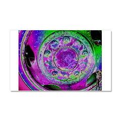 Purple Green Wheel Car Magnet 20 x 12