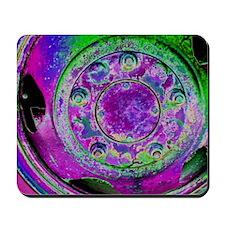 Purple Green Wheel Mousepad
