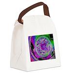 Purple Green Wheel Canvas Lunch Bag