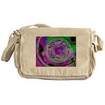 Purple Green Wheel Messenger Bag