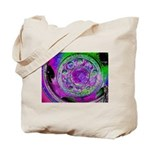 Purple Green Wheel Tote Bag