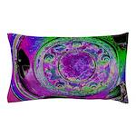 Purple Green Wheel Pillow Case