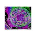 Purple Green Wheel Throw Blanket