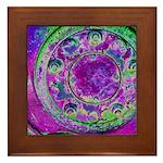 Purple Green Wheel Framed Tile