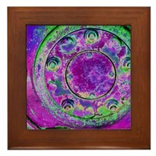 Purple Green Wheel Framed Tile