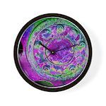 Purple Green Wheel Wall Clock