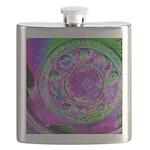 Purple Green Wheel Flask