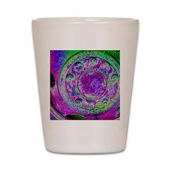 Purple Green Wheel Shot Glass