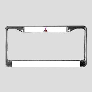 Thyroid Cancer License Plate Frame
