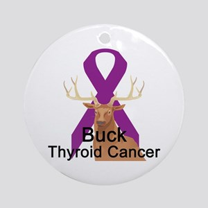 Thyroid Cancer Ornament (Round)