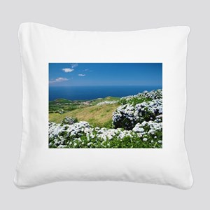 Hydrangeas everywhere Square Canvas Pillow