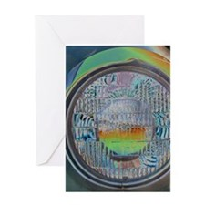 One headlight Greeting Cards
