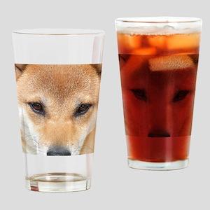 shiba-face Drinking Glass