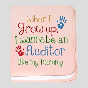 Auditor Like Mommy baby blanket