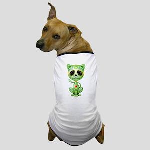 Green Zombie Sugar Skull Kitten Dog T-Shirt