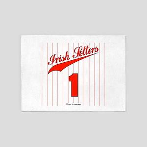 Irish Setter Baseball Jersey 5'x7'Area Rug