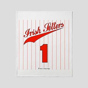 Irish Setter Baseball Jersey Throw Blanket